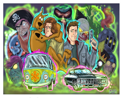 Scoobynatural 16x20
