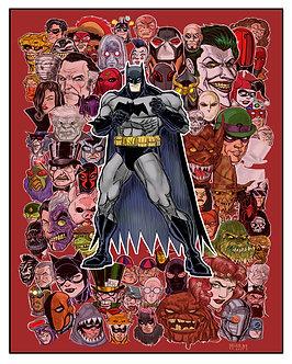 Batman Villains 16x20