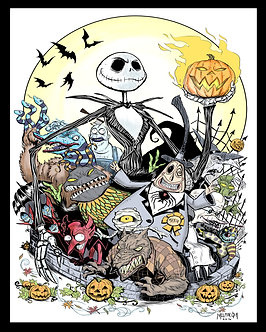 Nightmare Before Christmas act 1 16x20
