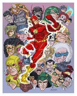 Flash Villain 16 x 20