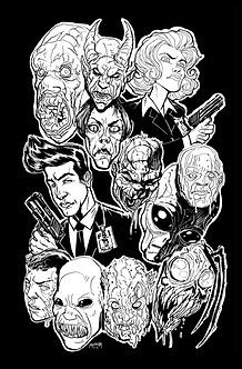 xfiles black and white