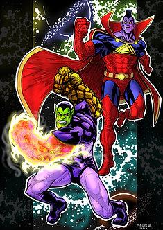 Super Skrull and Gladiator