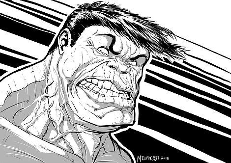 black and white hulk