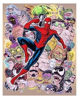 Red Spider-Man Villains 16x20