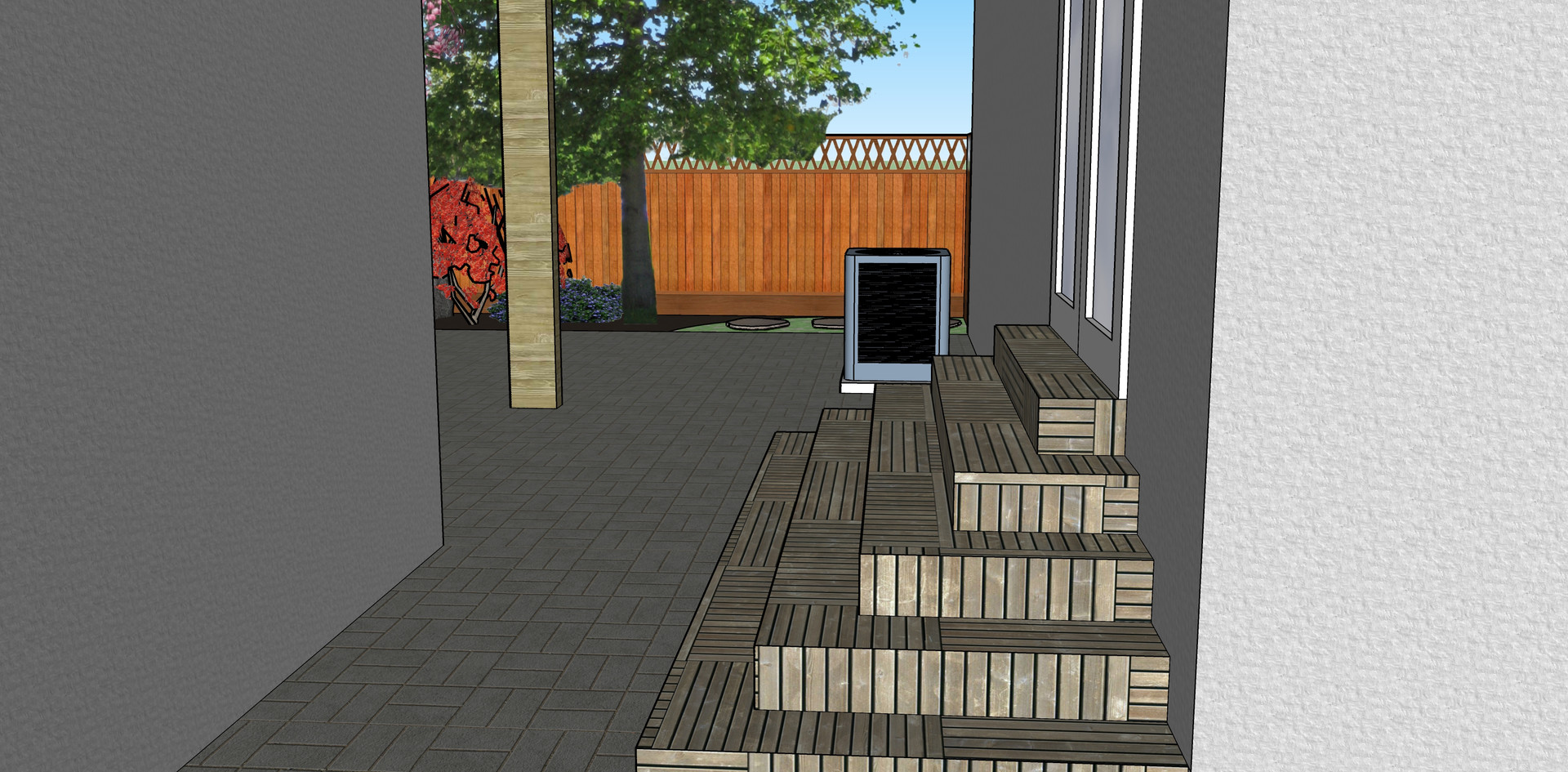 New exit out of back door