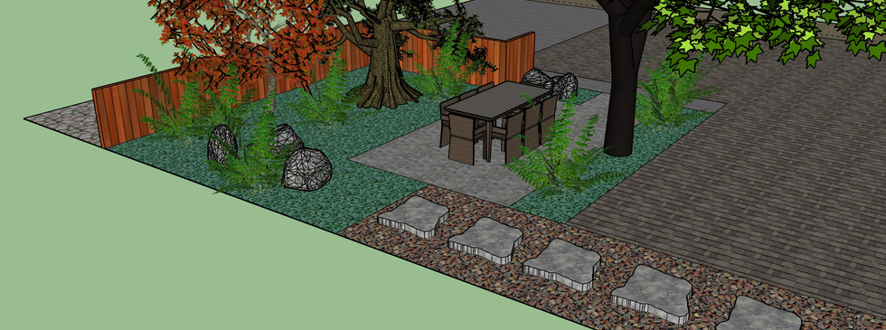 Front yard tea garden