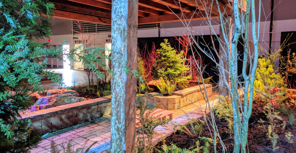 Pollinator garden and water feature