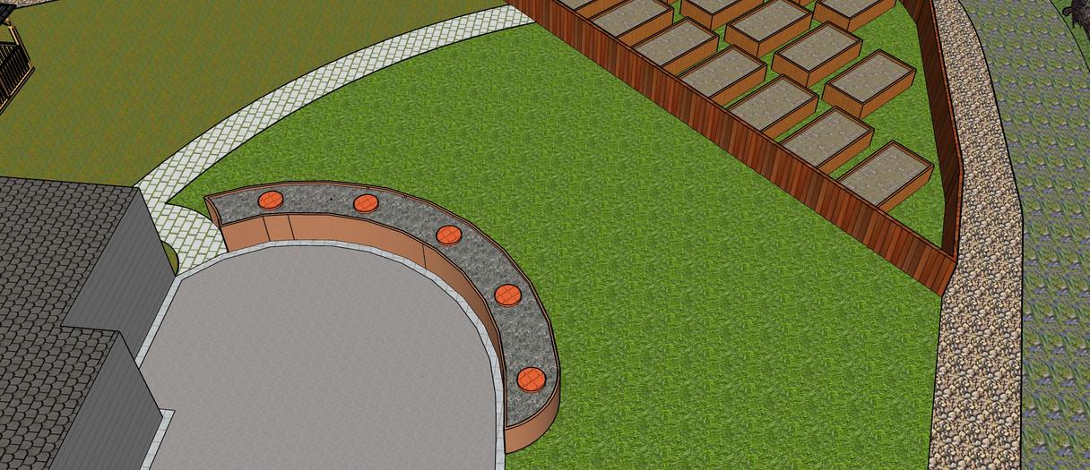Modern Keyhole Garden
