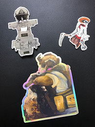 Invader Girl 31001 Sticker collection.
