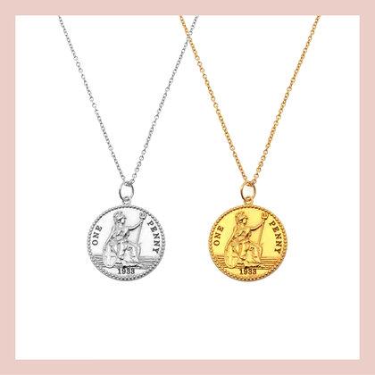 Warrior Coin Necklace