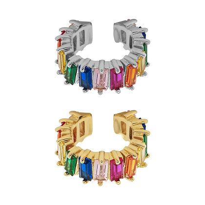 Rainbow Baguette Ear Cuff