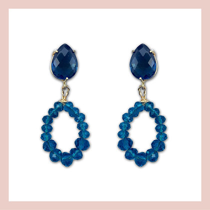 Blue Stones Small Earrings