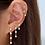 Thumbnail: Four Bezel Drop Earring (single)
