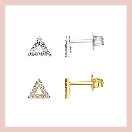 Pave Mini Triangle Stud (single)