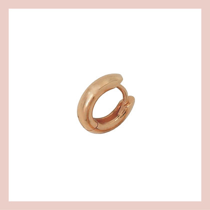 Mini Luxe Cartilage Huggie Hoop - Rose Gold (single)