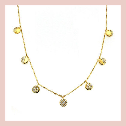 Moon Phases Necklace - Gold