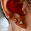 Thumbnail: Pave Mini Circle Stud (single)