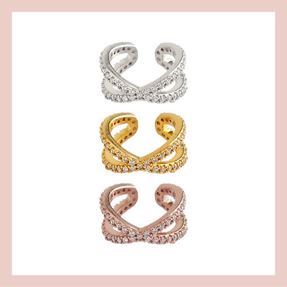 Pave Criss-Cross Ear Cuff