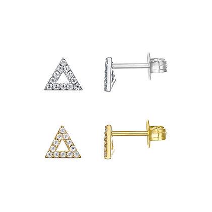 Pave Mini Triangle Stud (single)