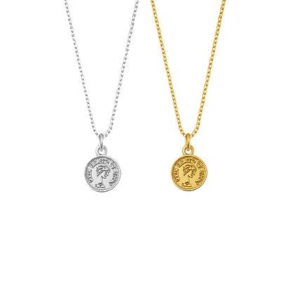 Mini Elizabeth Coin Necklace