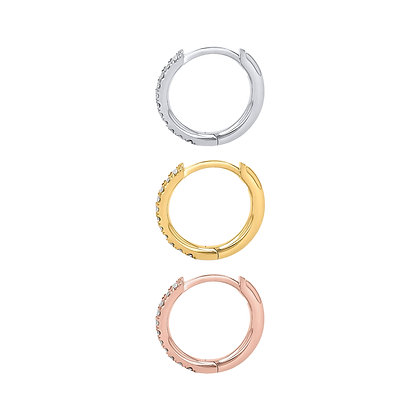Pave Conch Clicker Hoop (single)