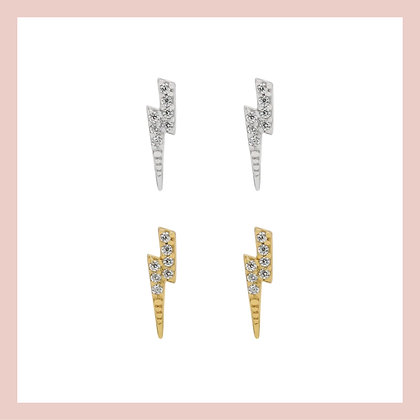 Pave Flash Stud (single)