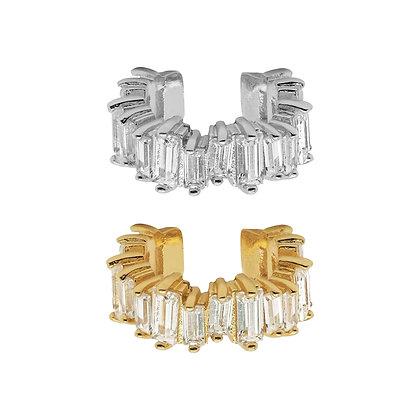 Embellished Baguette Ear Cuff