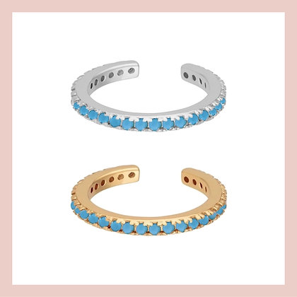 Turquoise Pave Ear Cuff