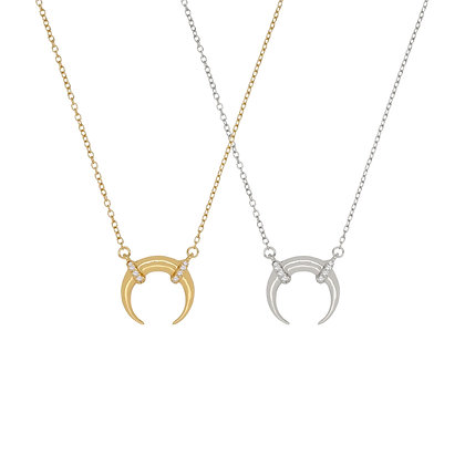 Horn Pave Necklace