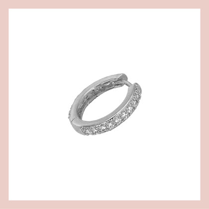 Conch Pave Clicker Hoop - Silver