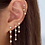 Thumbnail: Five Bezel Drop Earring (single)