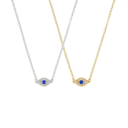 Medium Lucky Eye Pave Necklace