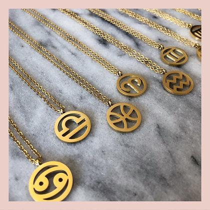 Zodiac Necklace - Gold