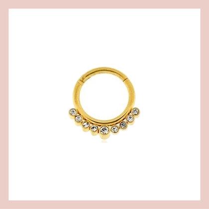 Cartilage Pave Clicker Hoop - Gold