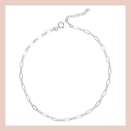 Sleek Chain Choker - Silver