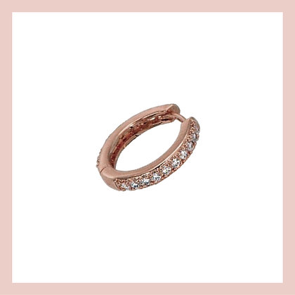 Conch Pave Clicker Hoop - Rose Gold