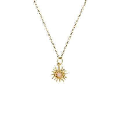 Moonstone Sun Necklace