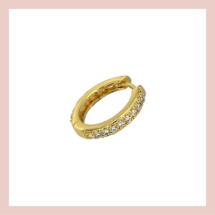 Conch Pave Clicker Hoop - Gold