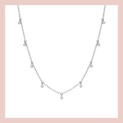 Shaker Bezel Choker - Silver