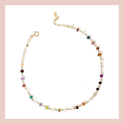 Colorful Gemstone Choker