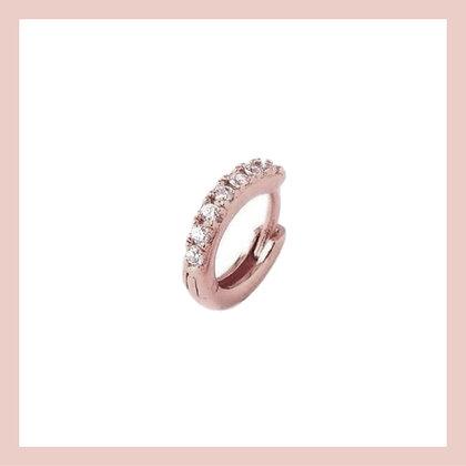 Mini Pave Cartilage Huggie Hoop - Rose Gold (single)