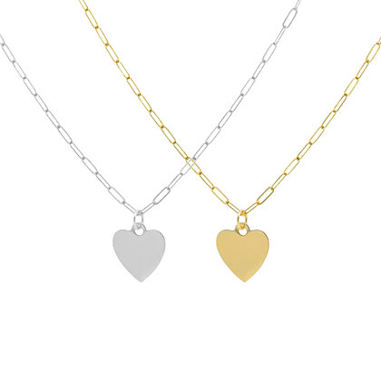 Heart & Chain Necklace