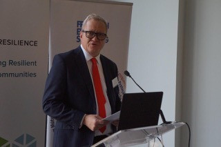 David Bax at CVE Survey Conference in Maputo, Mozambique, September 2019