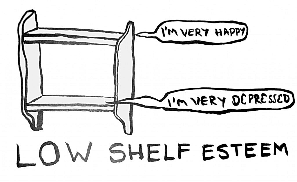 Low shelf esteem