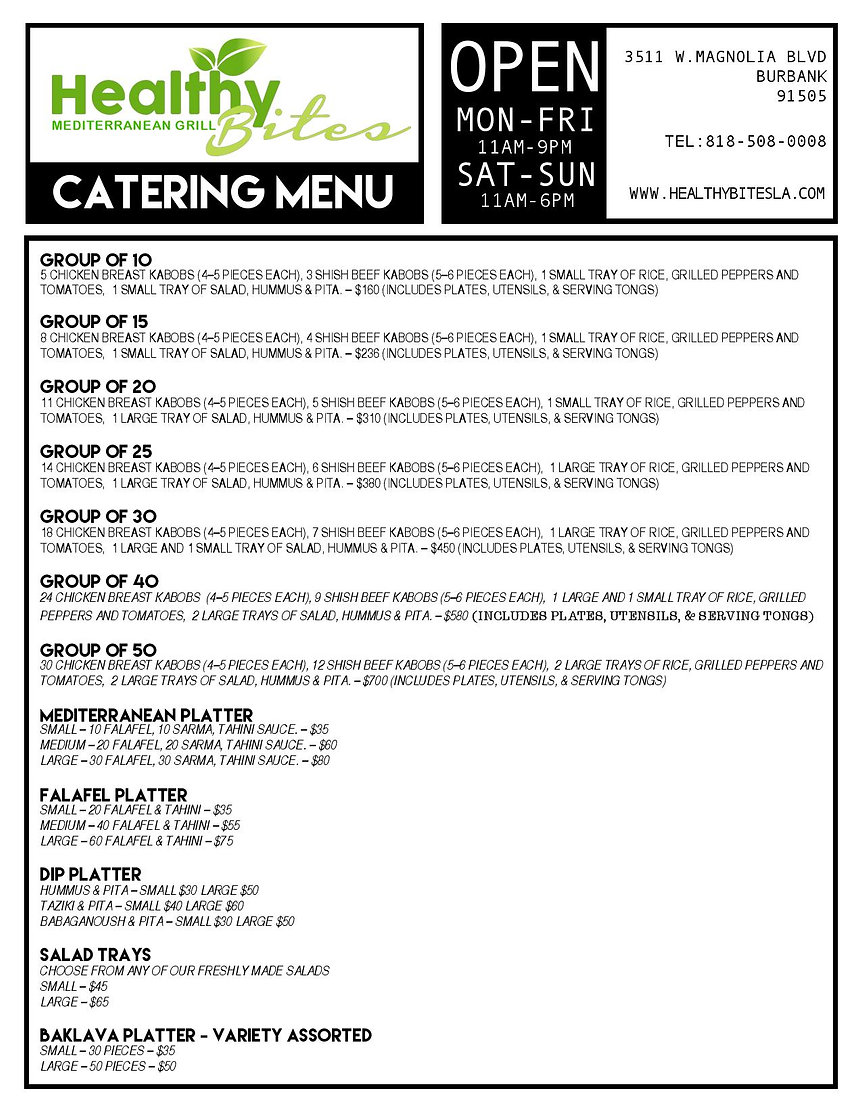 HEALTHY BITES NEW CATERING MENU 2019-pag