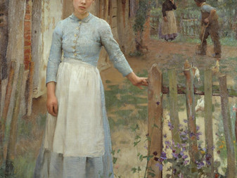 The Girl at the Gate', Sir George Clausen, 1889