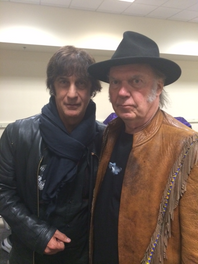 Backstage with Neil Young