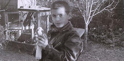 Gary Catona with a Pigeon when he was a child