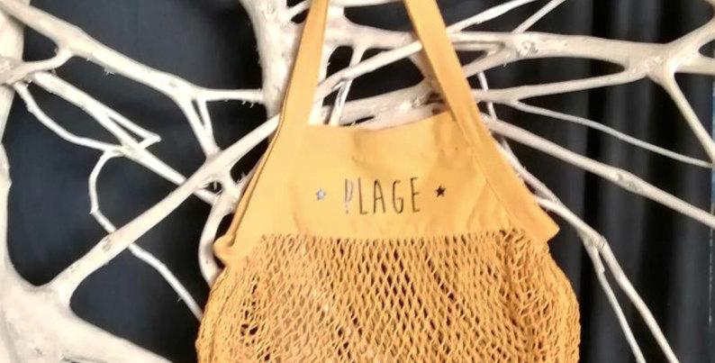 Sac Filet PLAGE jaune