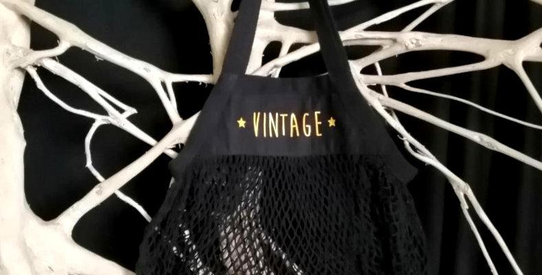 Sac Filet VINTAGE noir